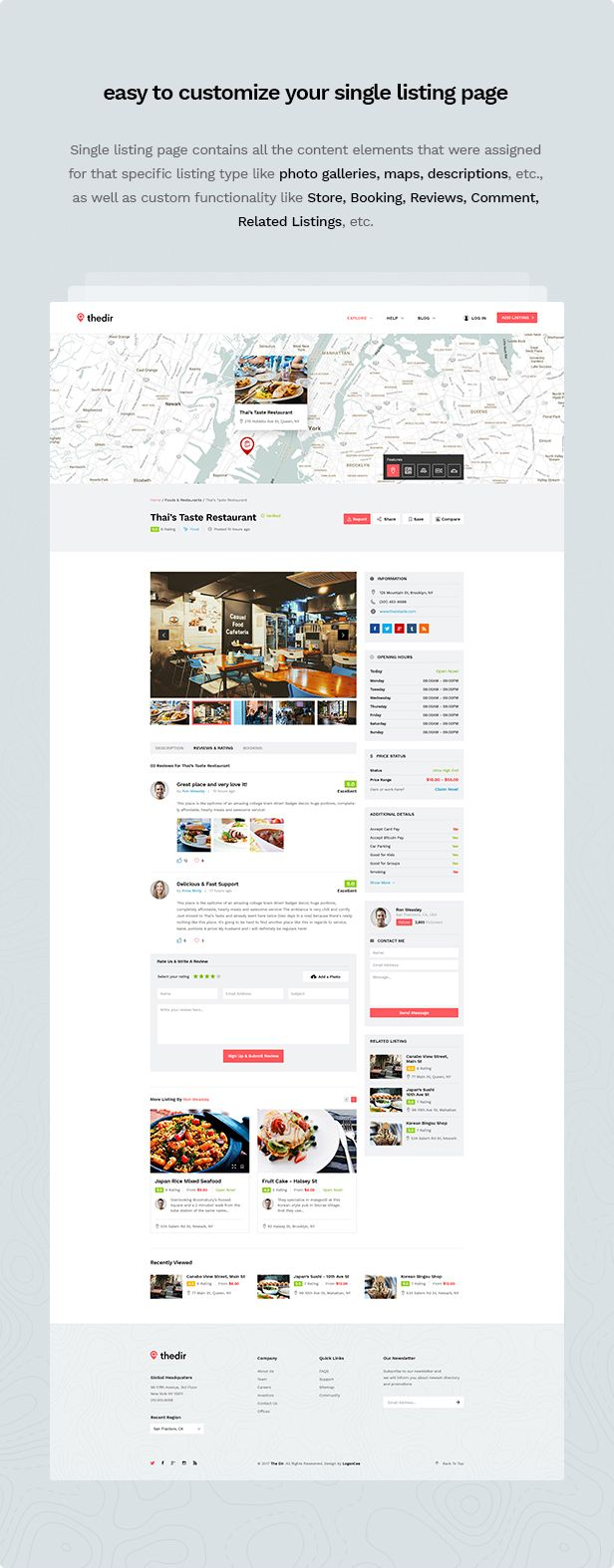 Thedir | Unlimited Listing & Directory PSD Template - 7