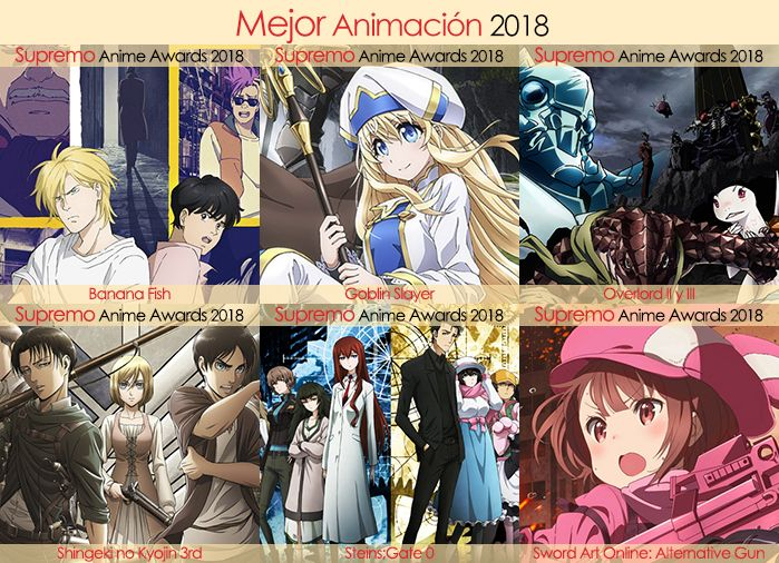 Final X Categorias Nominados a Mejor Animación 2018