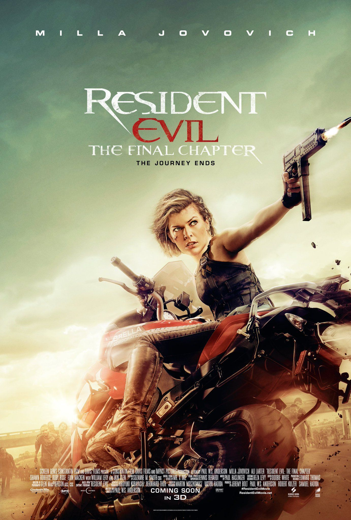Poster Resident Evil: The Final Chapter 2016 Full Movie Download in Hindi Dubbed 720p