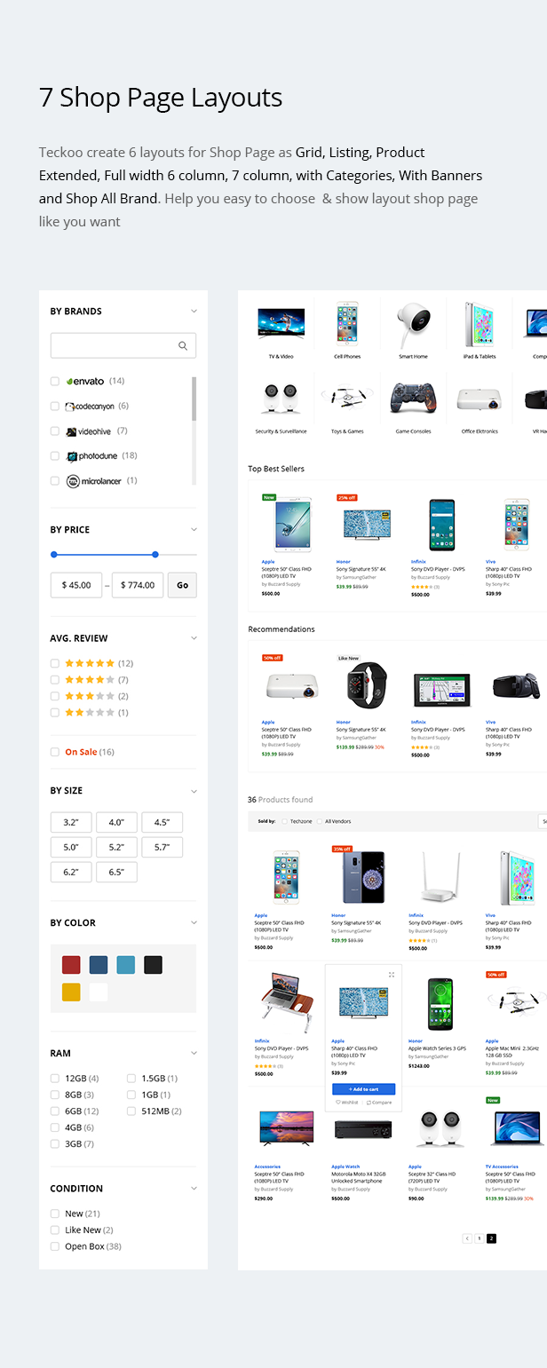 Teckoo - Electronic & Technology Marketplace eCommerce PSD Template - 7