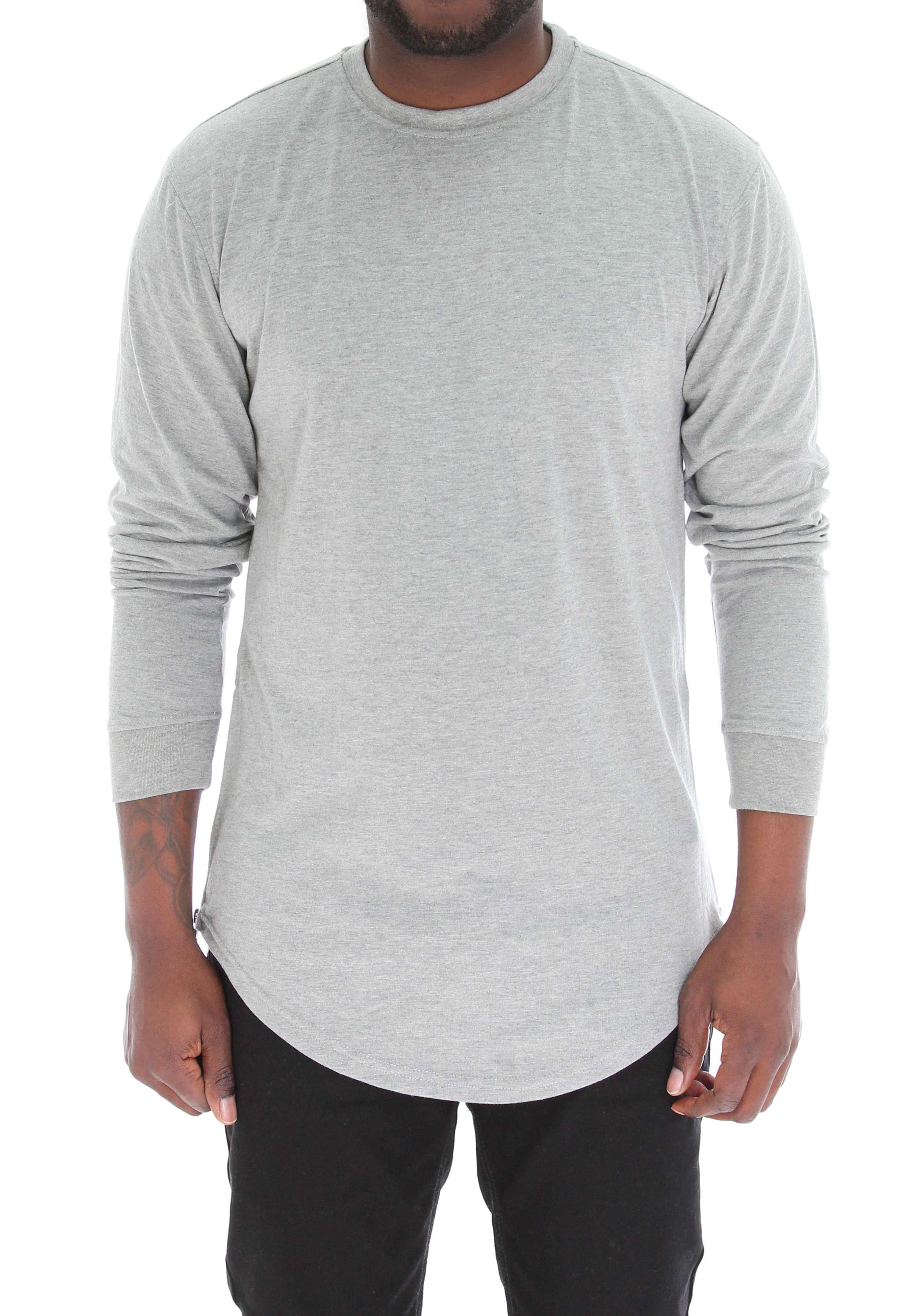 7ed75ac21 Bleecker & Mercer Men's Long Sleeve Longline T Shirt with Side Zippers