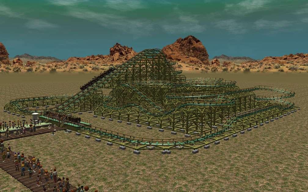 My Downloads - Parks and Coasters - Coaster: Miner '49'er - Demo Screenshot, Image 02