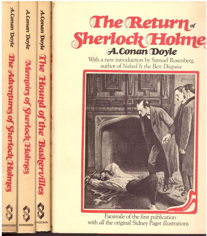 Sherlock Holmes Facsimile of Strand Set[Adventures of, Memoirs of, Return of, Hound of Baskervilles], A Conan Doyle, Sidney Paget,