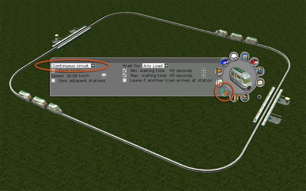 Image 04, Park Shuttle Configurations - Standard Continuous Circuit Shuttle Configuration