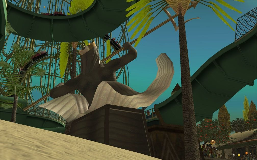 My Projects - CSO's I Have Imported, Landscaping and Park Grounds - View Looking Upwards at Sky From Behind Neptune Statue Near Marlin Fantasy Slide, Image 13
