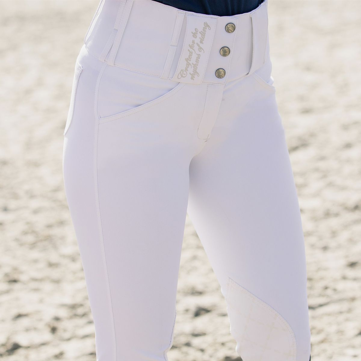 Horze-Desiree-Women-039-s-Knee-Patch-Riding-Breeches-with-High-Waist-and-Bi-Stretch thumbnail 31