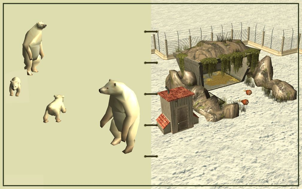 Image 18, RCT3 FAQ, Volitionist's RCT3 Animal Care Guide, Page 3: Polar Bears And Carnivore House With Electric Fence