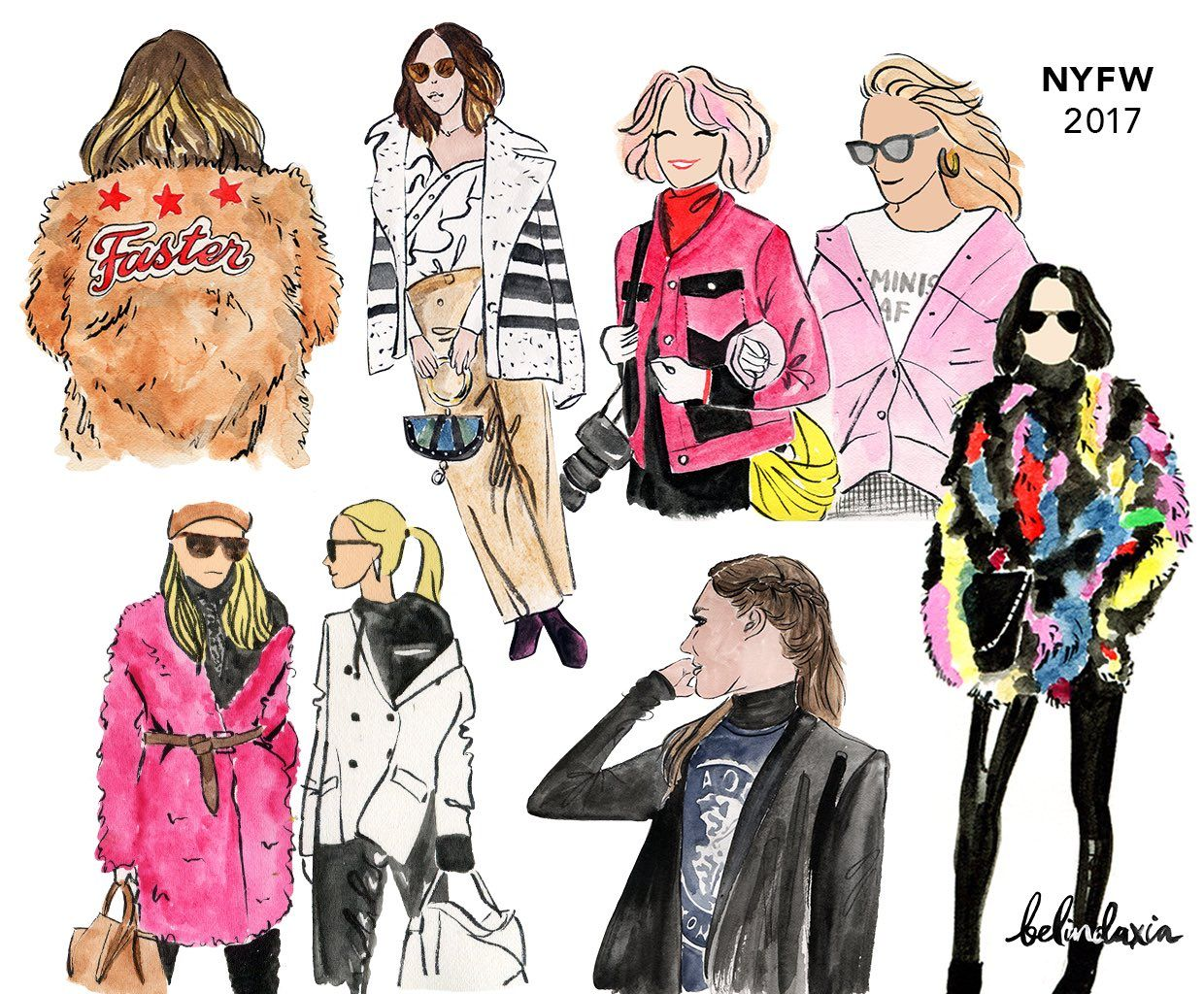 Belinda Xia Illustrations NYFW