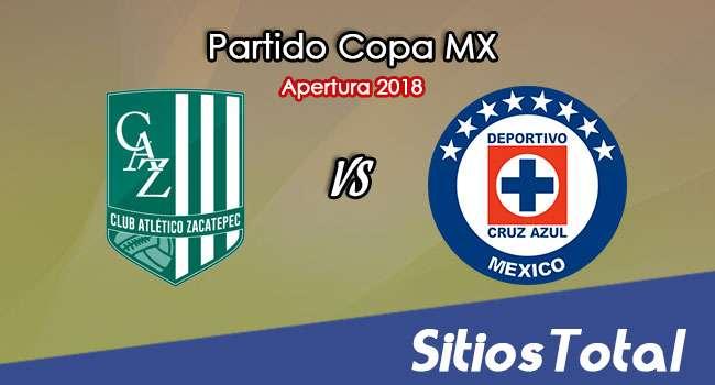 Atlético Zacatepec vs Cruz Azul en Vivo – Copa MX – Miércoles 1 de Agosto del 2018