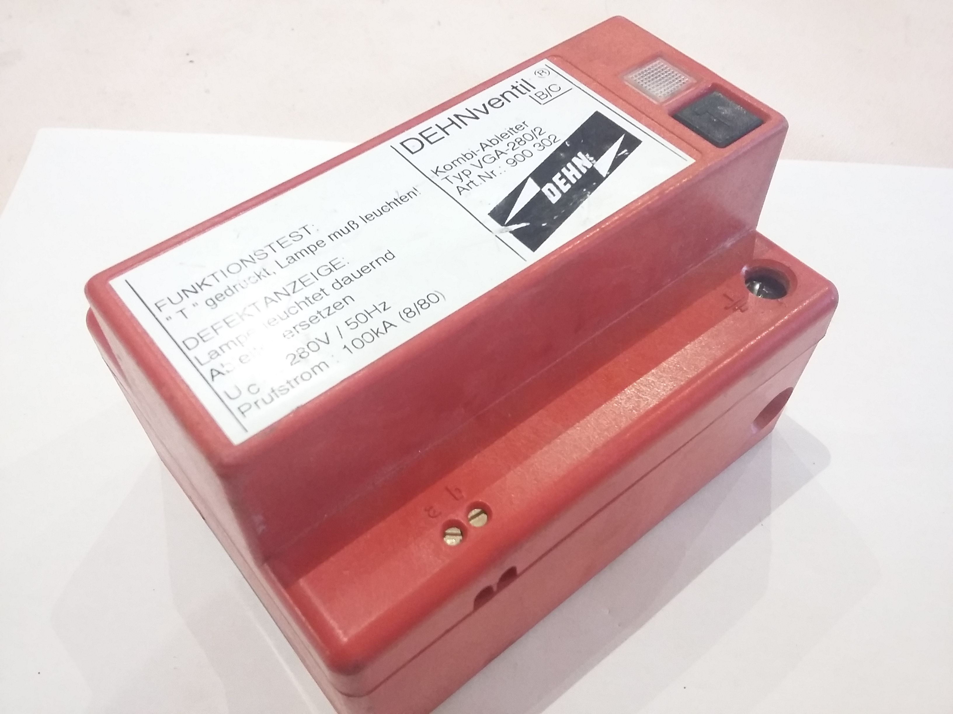 DEHNVENTIL b/c Kombi ableiter vga-280 / 2 900 302 280 V 100 ka ...