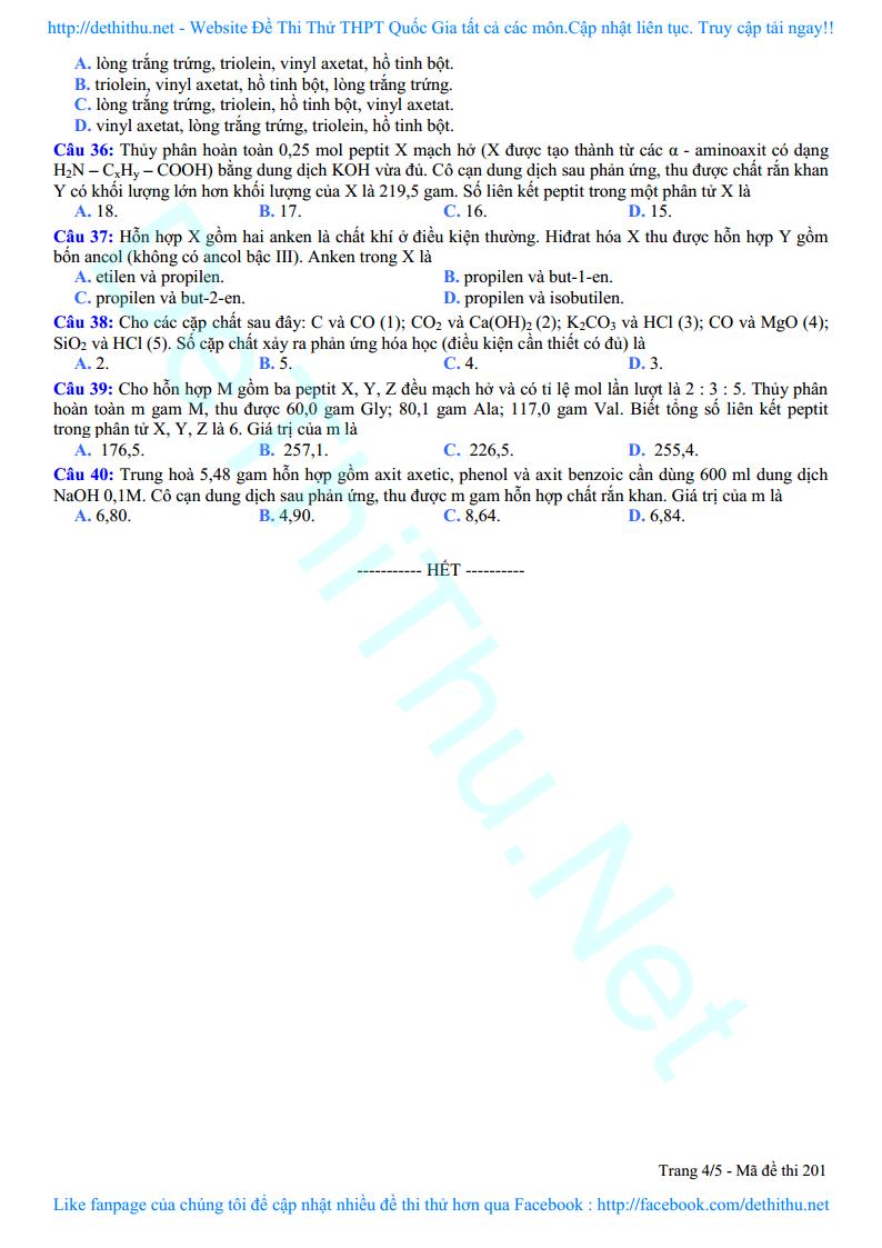 De thi thu mon Hoa So GD Vinh Phuc 2018 lan 1 trang 9