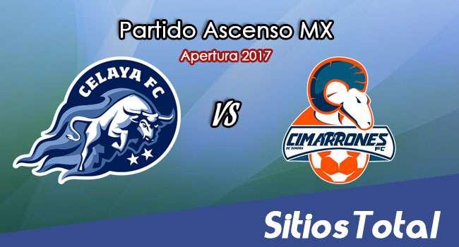 Celaya vs Cimarrones de Sonora en Vivo – Online, Por TV, Radio en Linea, MxM – Apertura 2017 – Ascenso MX