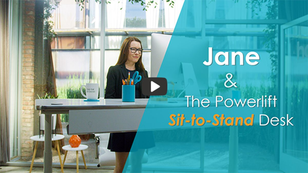 Jane & The Powerlift Sit-to-Stand Desk