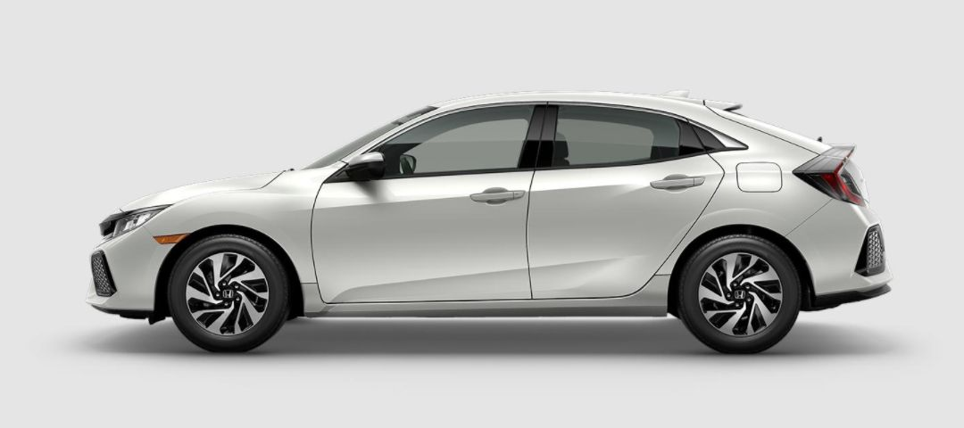2018 Civic Hatchback LX in White Orchid