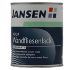 Jansen Aqua Wandfliesenlack 0,75L weiss, seidenmatt, Fliesenlack