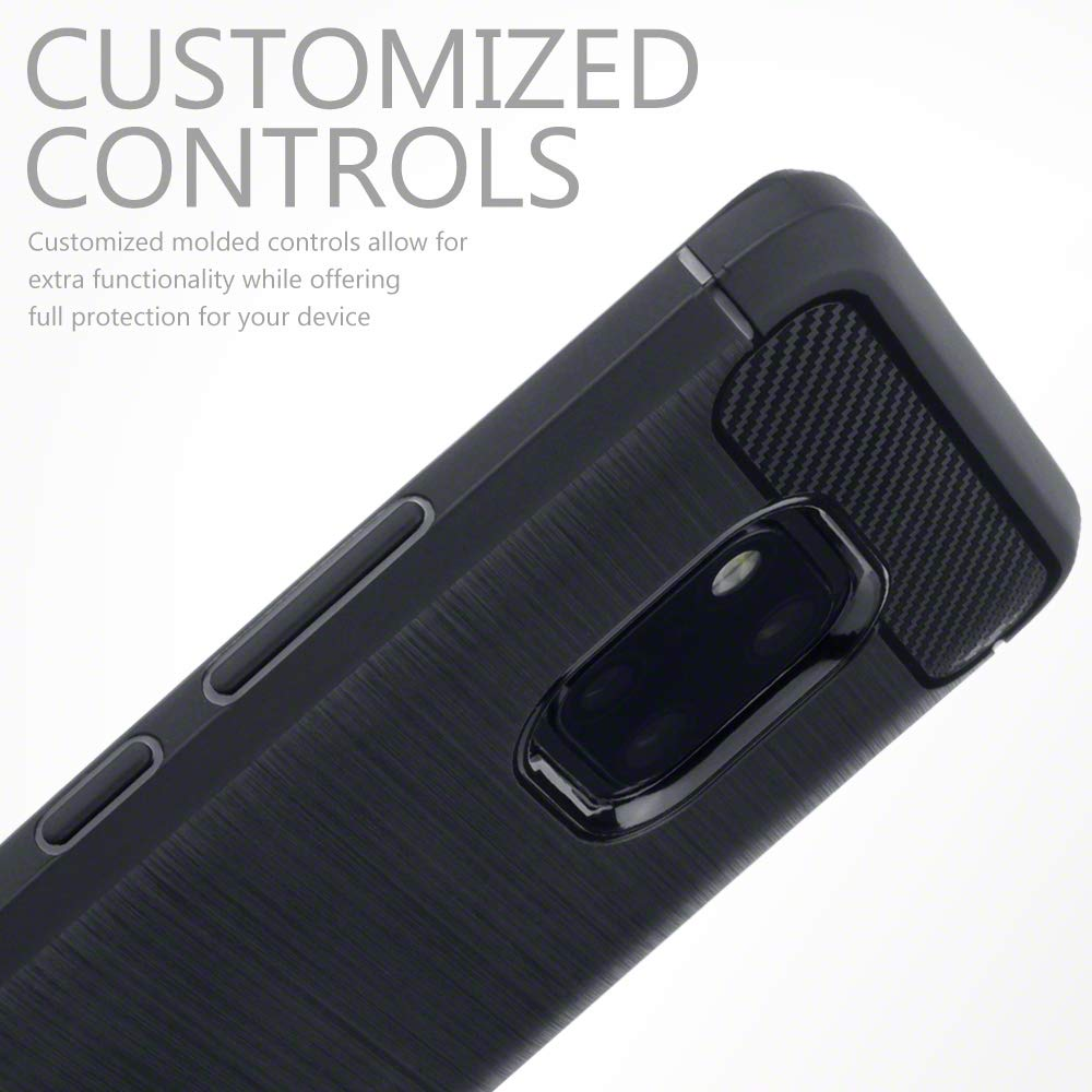 Coque-Etui-Housse-Silicone-brossee-Fibre-de-carbone-Noir-Protection-Huawei miniature 27