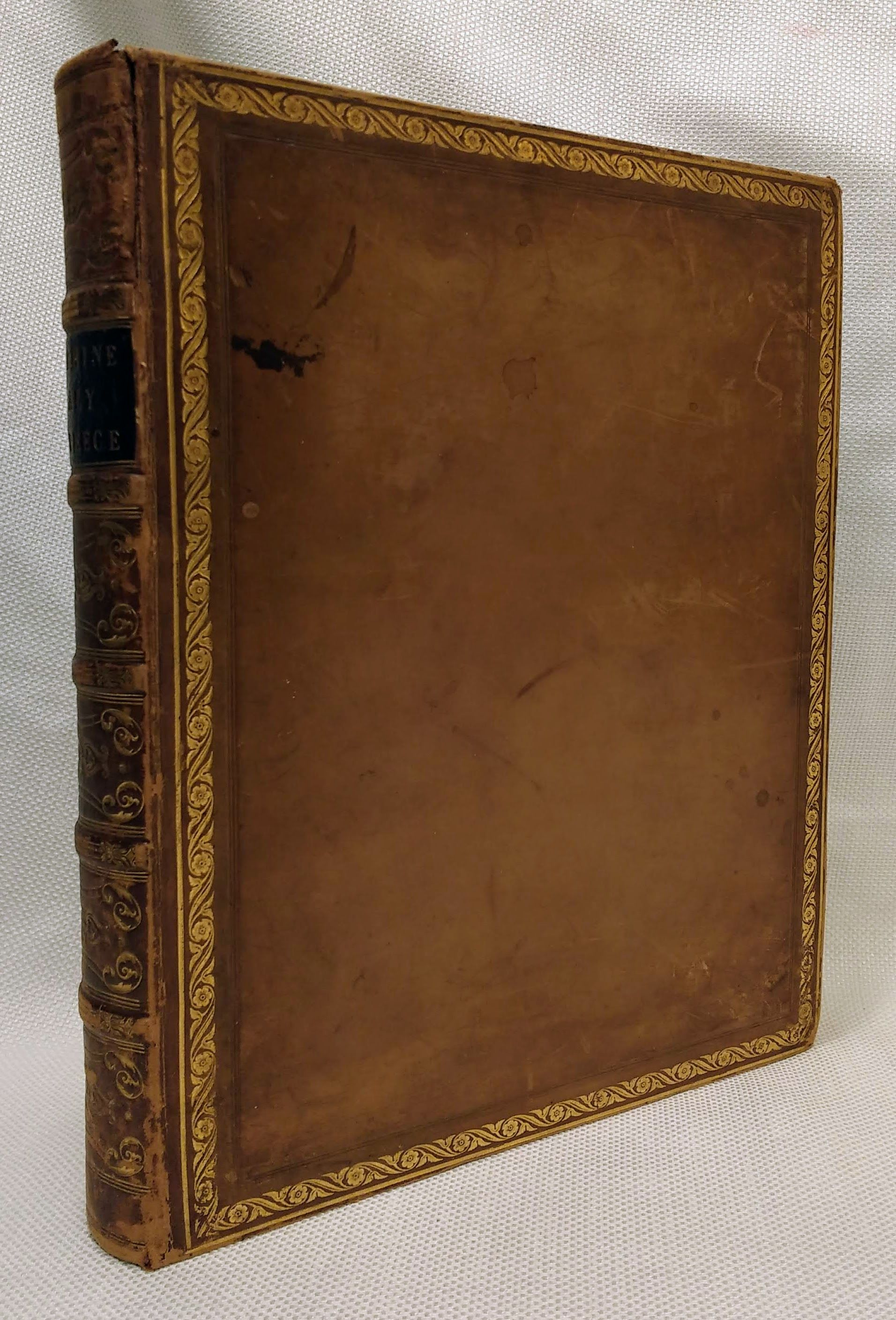 The Rhine, Italy And Greece. In A Series of Drawings From Nature By Colonel Cockburn, Major Irton, Messrs. Bartlett, et al. [2 volumes in one, fine leather binding], Wright, Rev G. N., Illustrated by Cockburn, Colonel; Irton, Major; Bartlett; Lei