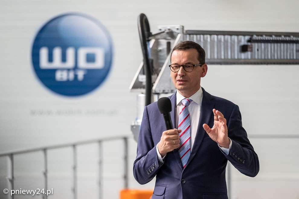 Premier Morawiecki wfirmie WObit