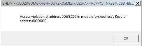 Sua loi Access violation at address 0063EC09 in modile