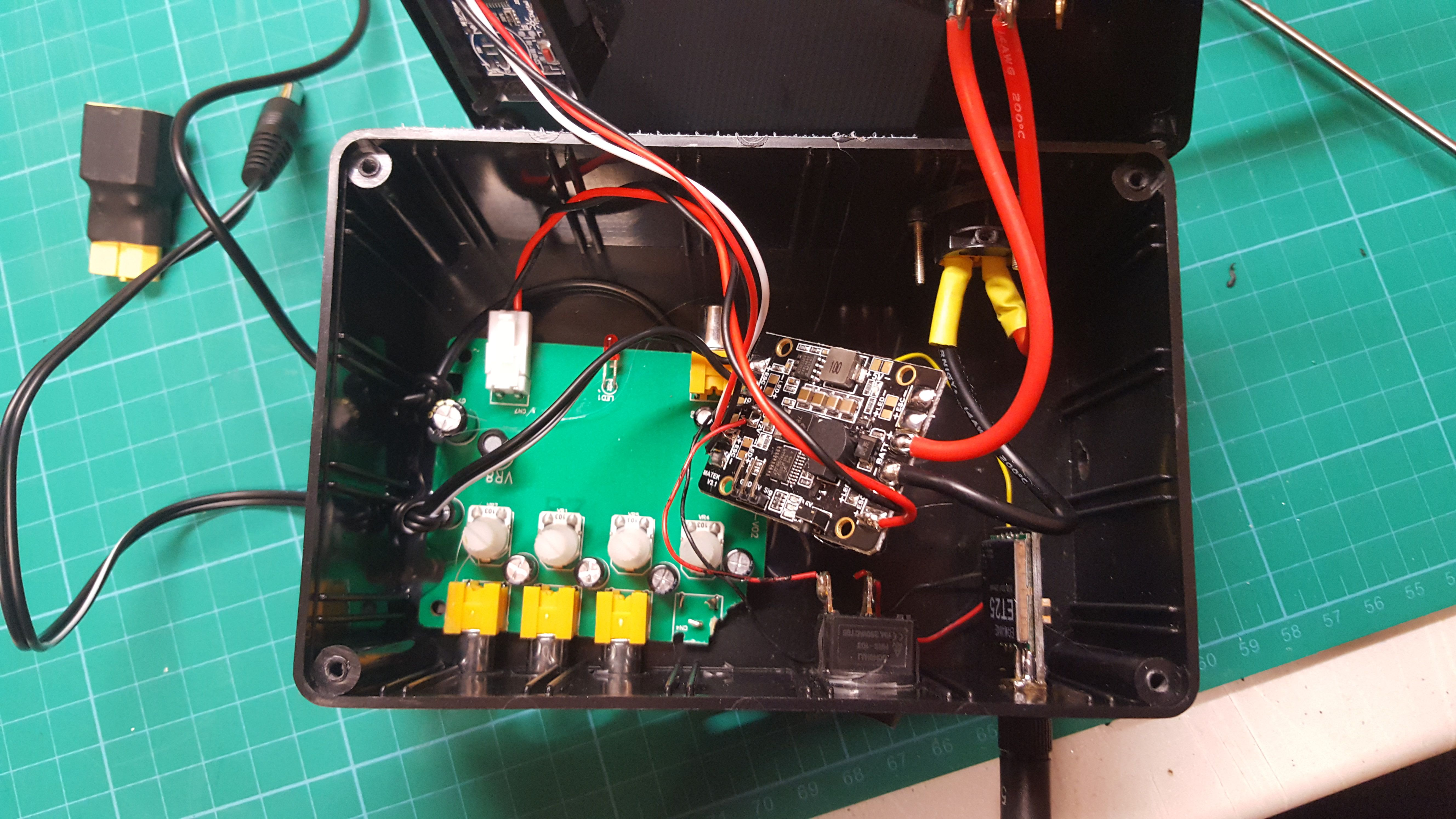 Fpv Hub 58 Relay Box Updated 555 On And Off Ta Da Finished I Forgot To Take A Picture Of Me Connecting The Vtx Red Wire Through Switch Side This Means Can Turn If Im