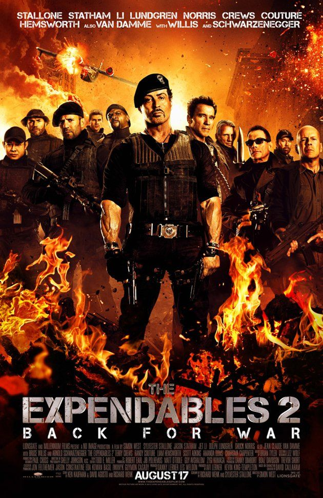 Poster The Expendables 2 Full HD Movie Download in Hindi Dual Audio 720p