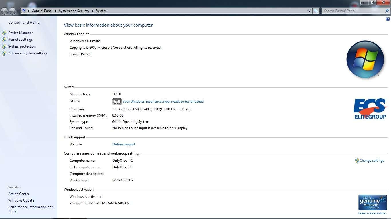 TipidPC com - CPU Core i5 2400 3 10ghz quad core 2ND GEN