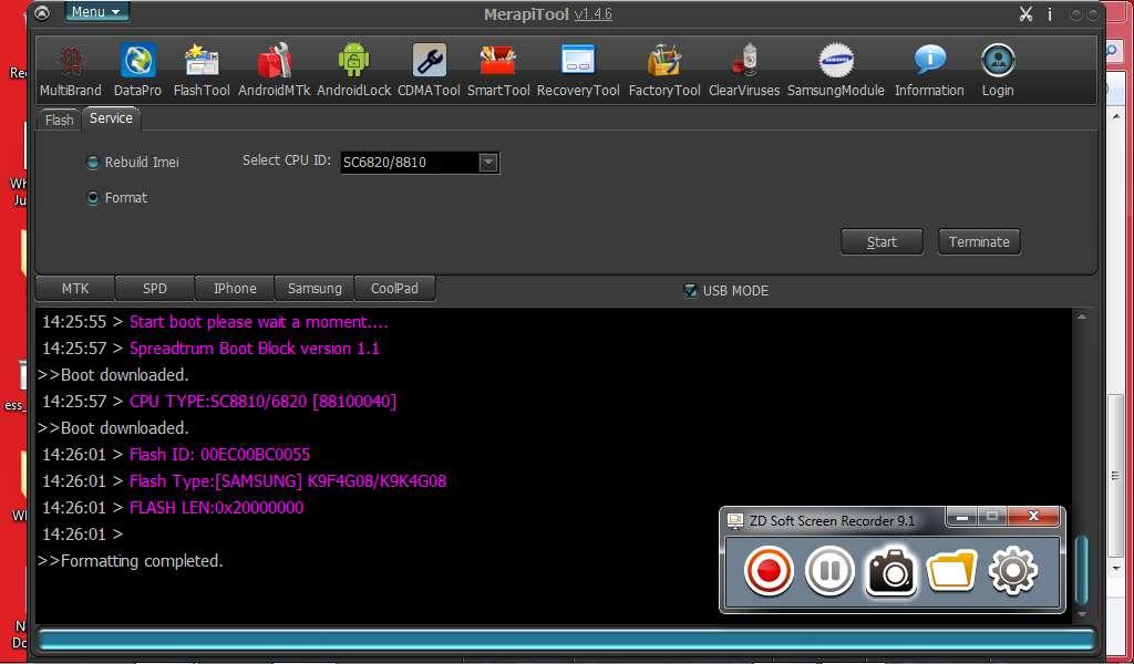 Orro F118 SPD SC8810/6820 PATTERN RESET DONE USING MERAPI TOOL - GSM