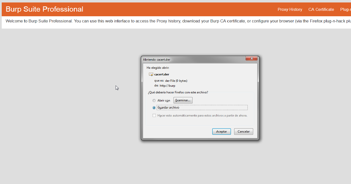 Ssl Certificate For Burpsuite Firefox
