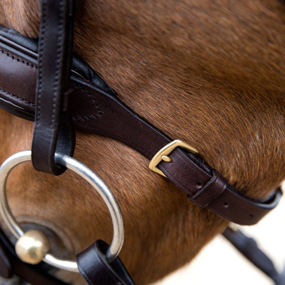 Horze-Crescendo-Lester-Snaffle-Bridle-with-U-Shaped-Browband-and-Anti-Slip-Reins miniature 18