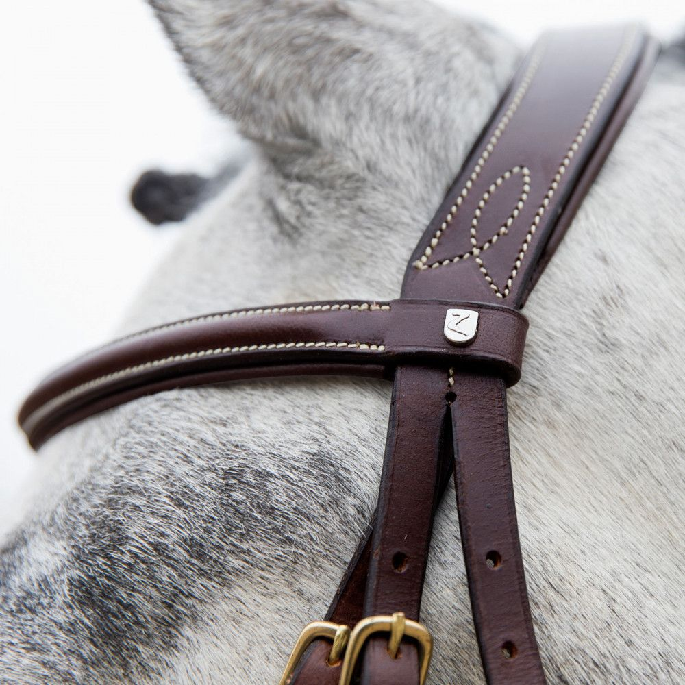 Horze-Constance-Bridle-Fancy-Stitching-with-Combined-Noseband-and-Web-Reins miniature 16