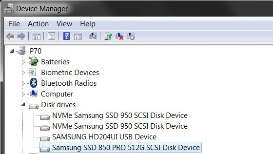 What is your Hardware ID for Samsung 850 Pro with EXM04B6Q