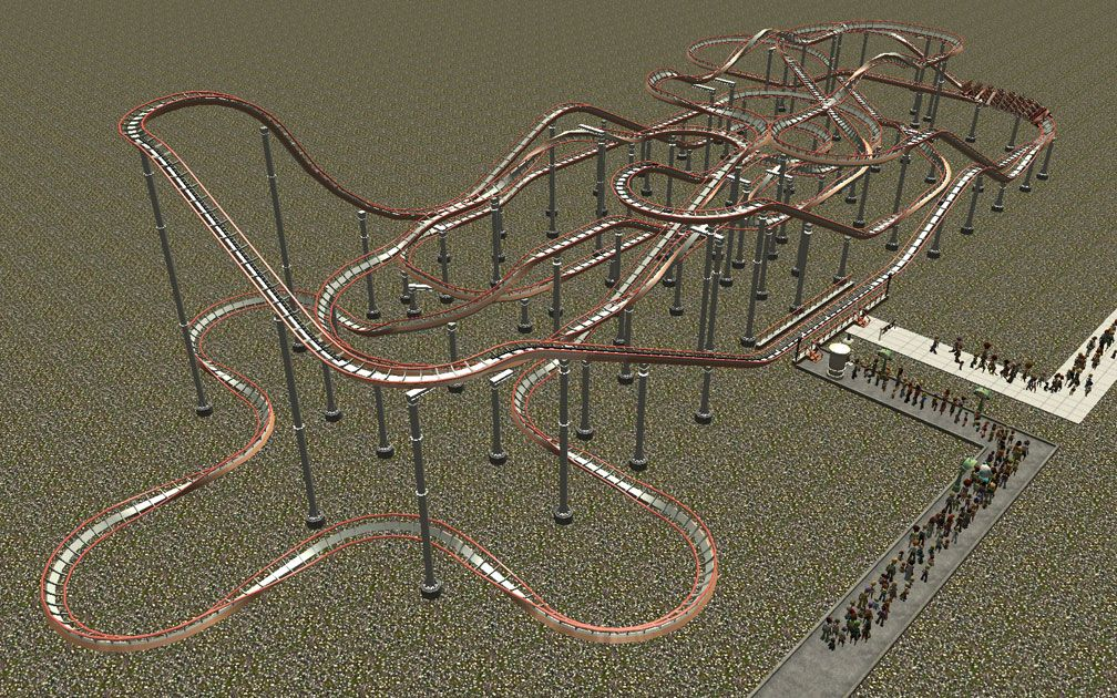 My Downloads - Parks and Coasters - Coaster: Peppermint Twist - Demo Screenshot, Image 03