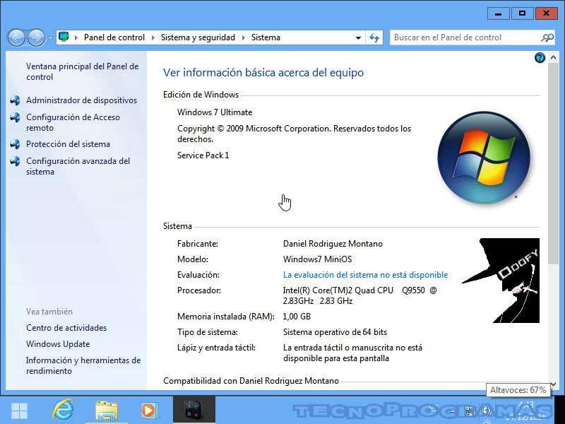 Windows 7 MiniOS evaluacion experiencia