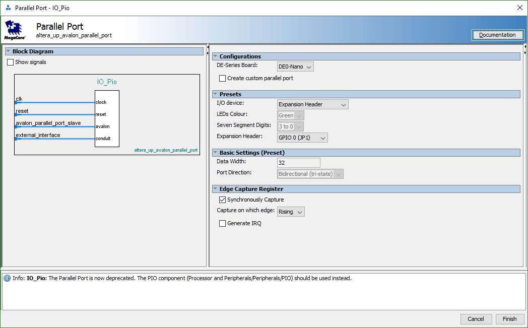 NIOS-II/e Gen2 processors and FreeRTOSv9 0 0 in Quartus 17 0 0