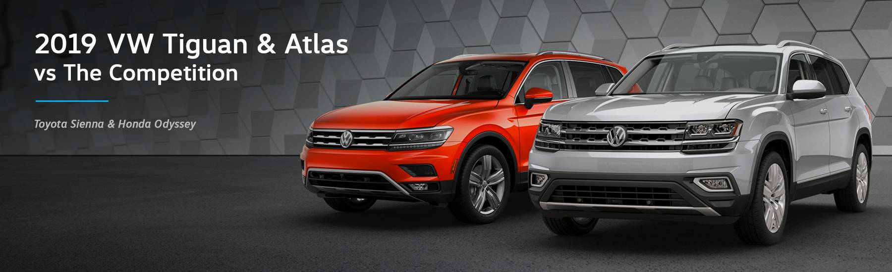 2019 VW Tiguan & 2019 VW Atlas vs Toyota Sienna & Honda Odyssey