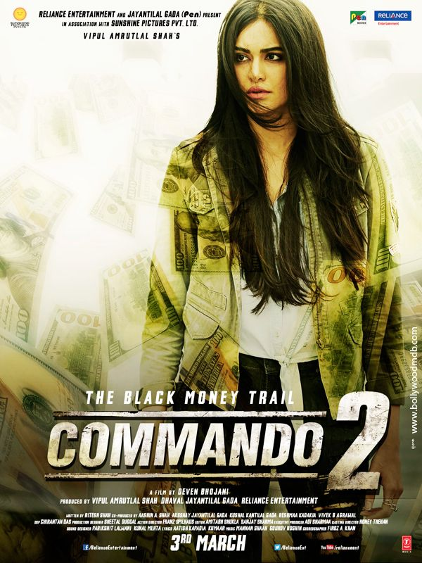 Poster Commando 2 2017 HD Free Full Download and Watch Online