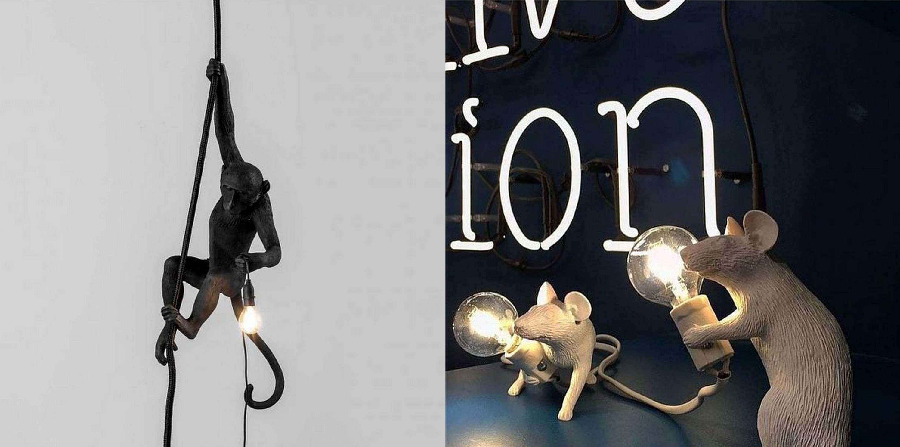 Seletti muis aap lampen