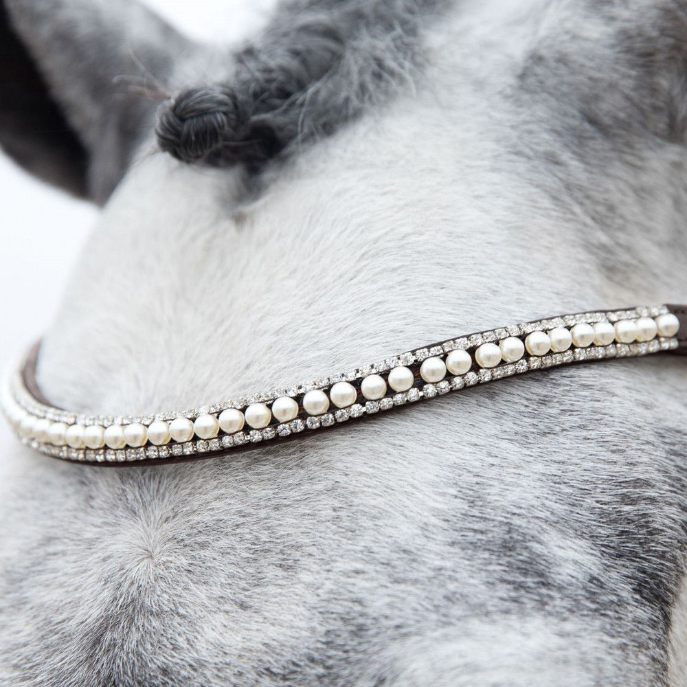 Horze-Trajan-Leather-Snaffle-Flash-Bridle-with-Narrow-Browband-and-Reins miniature 22