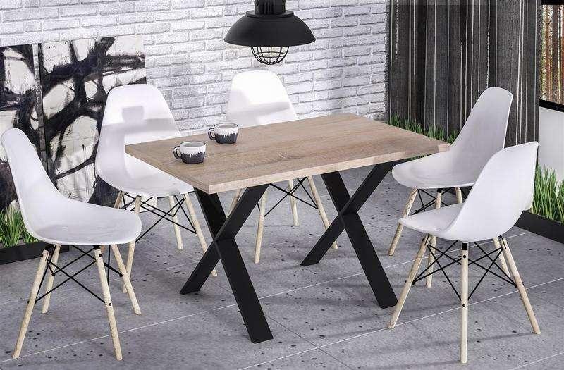 Esstisch endo stol x 130 metallgestell k chentisch for Kuchentisch industrial