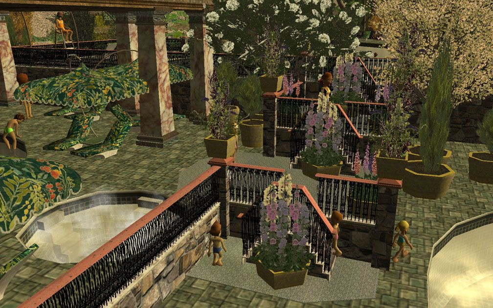 My Projects - CSO's I Have Imported, Planters And Pool Fencing - Screenshot Displaying Pool Stair Fitted Planters with Hollyhocks and Foxgloves, Image 07