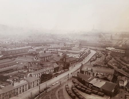 View from Newport top early 20th century