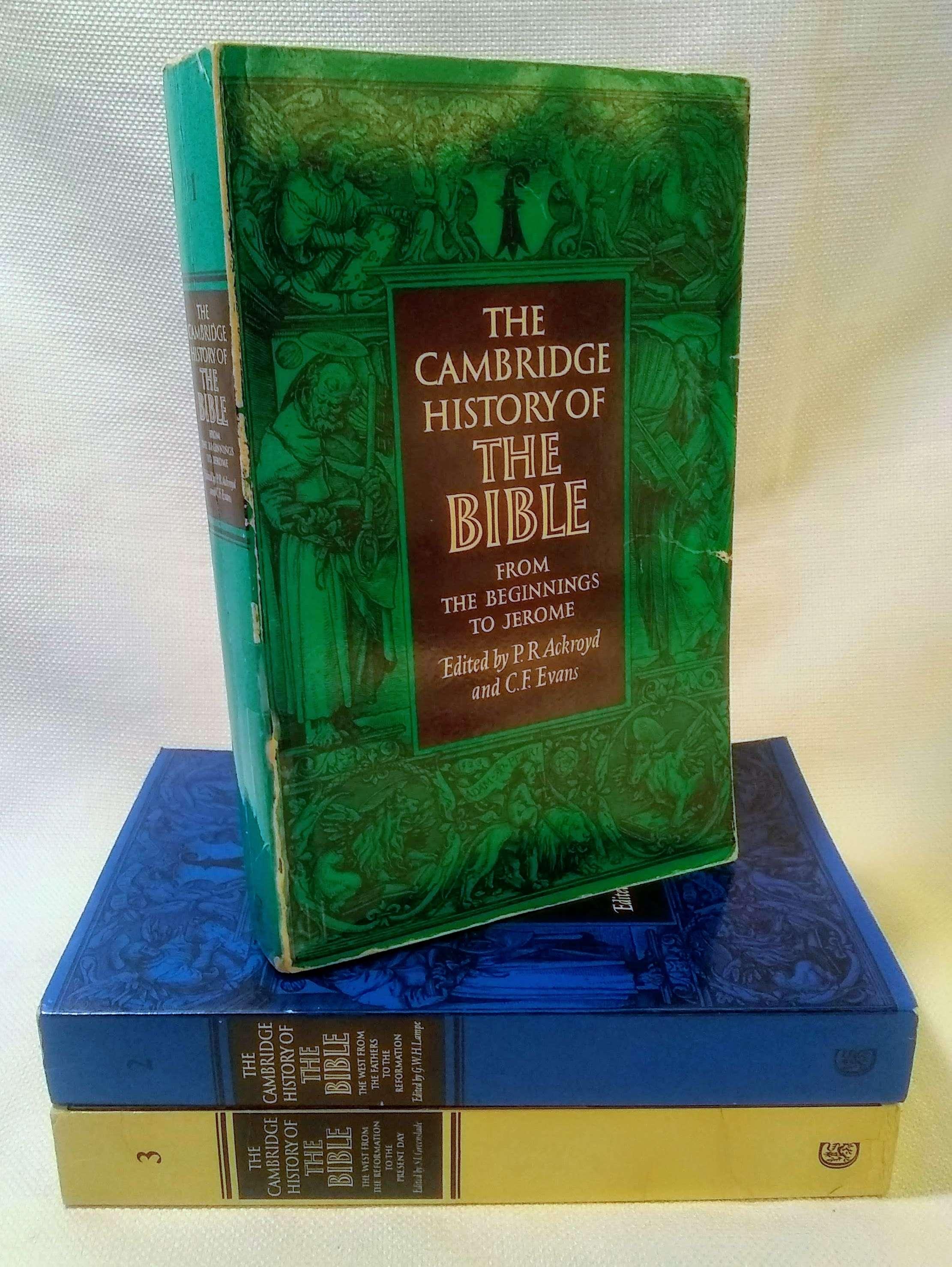 The Cambridge History of the Bible (3 Volume Set), Ackroyd, P. R. [Editor]; Evans, C. F. [Editor]; Greenslade, S. L. [Editor]; Lampe, G. W. H. [Editor];