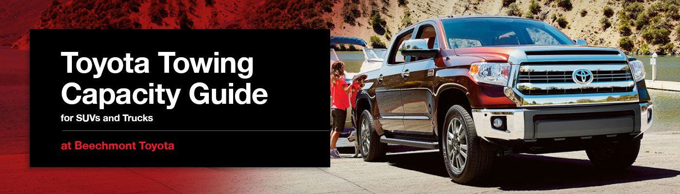 Toyota truck SUV towing capacity