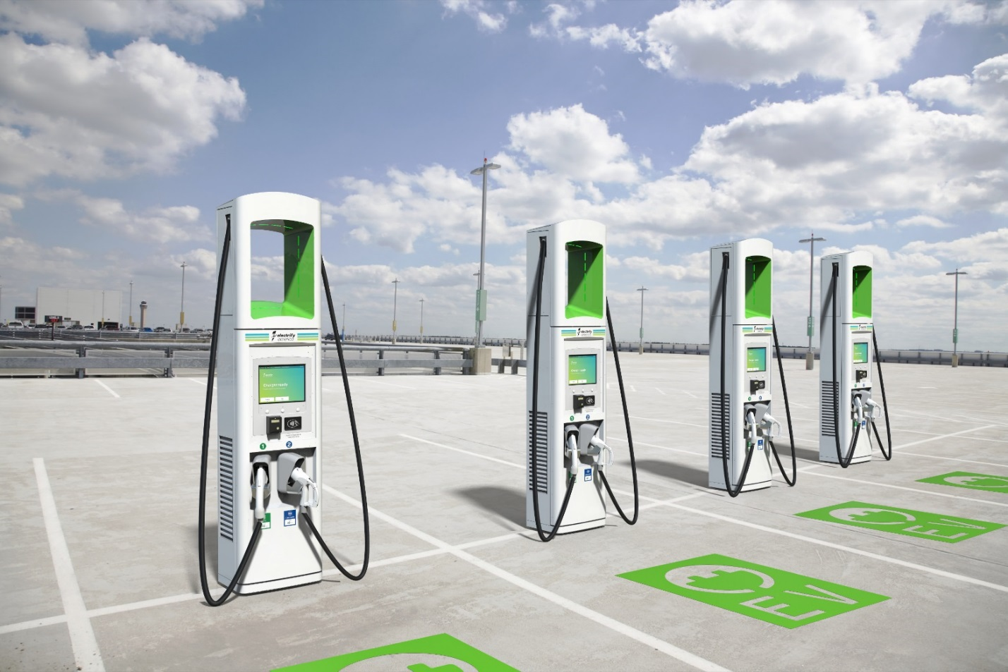 Electrify America Plug-In Hybrid EV Charging Station