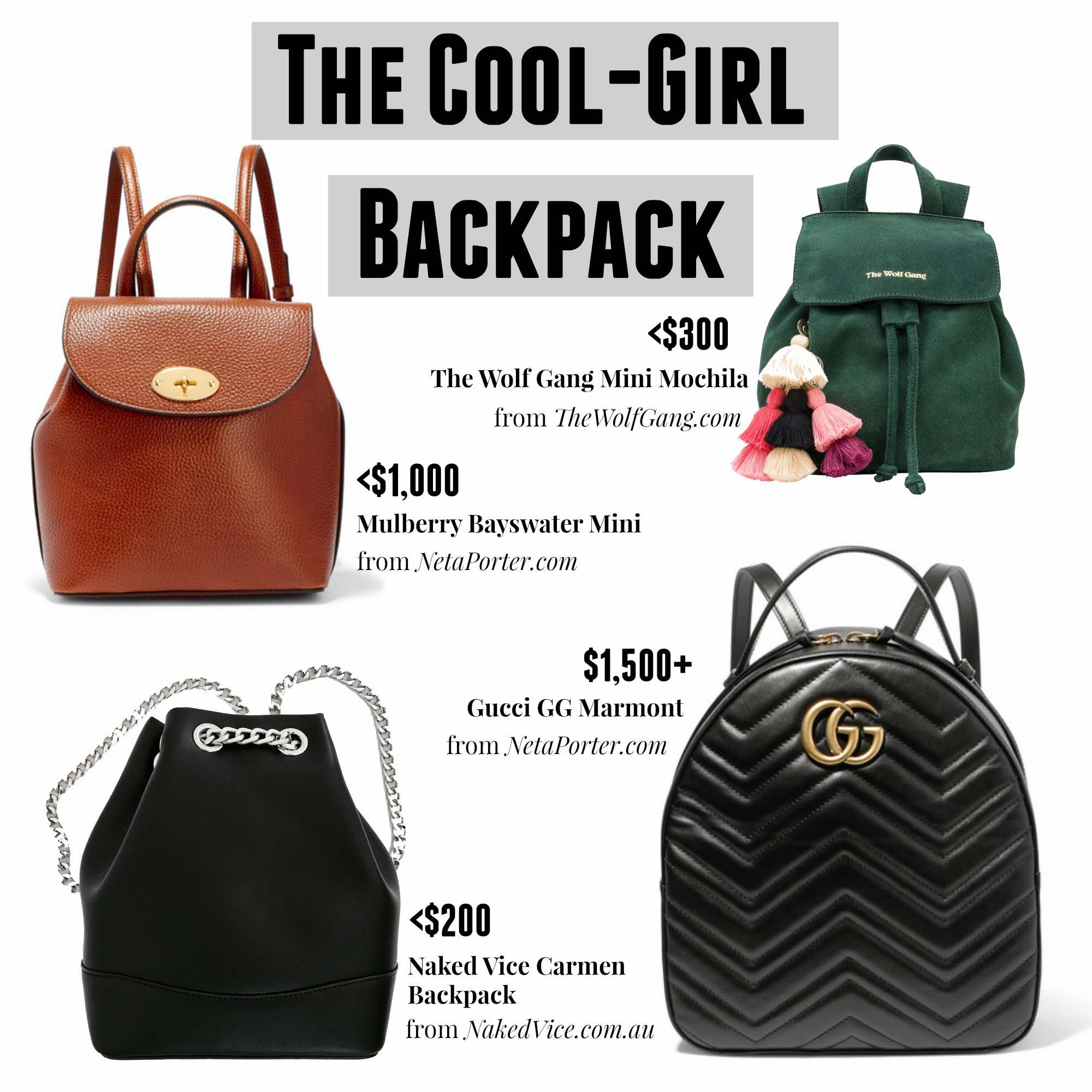 The Cool-Girl Backpack