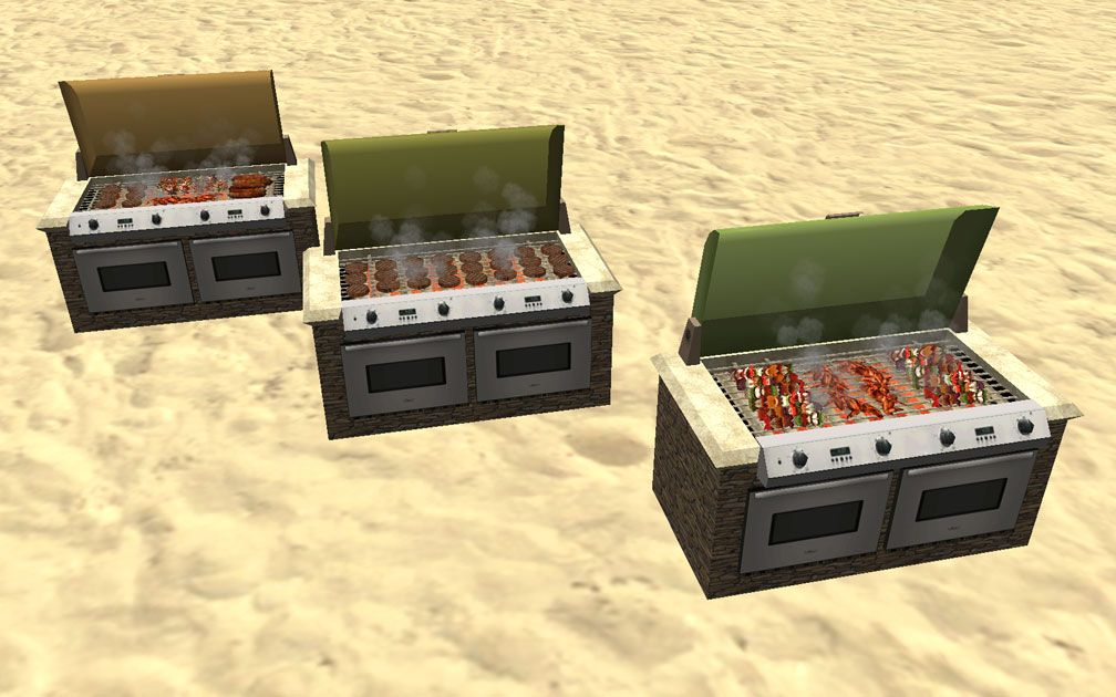 Showcase! Winter 2017 - Mr. Sion's Tiki Bar - Image 05: Three Types of Cooked Food Assortments