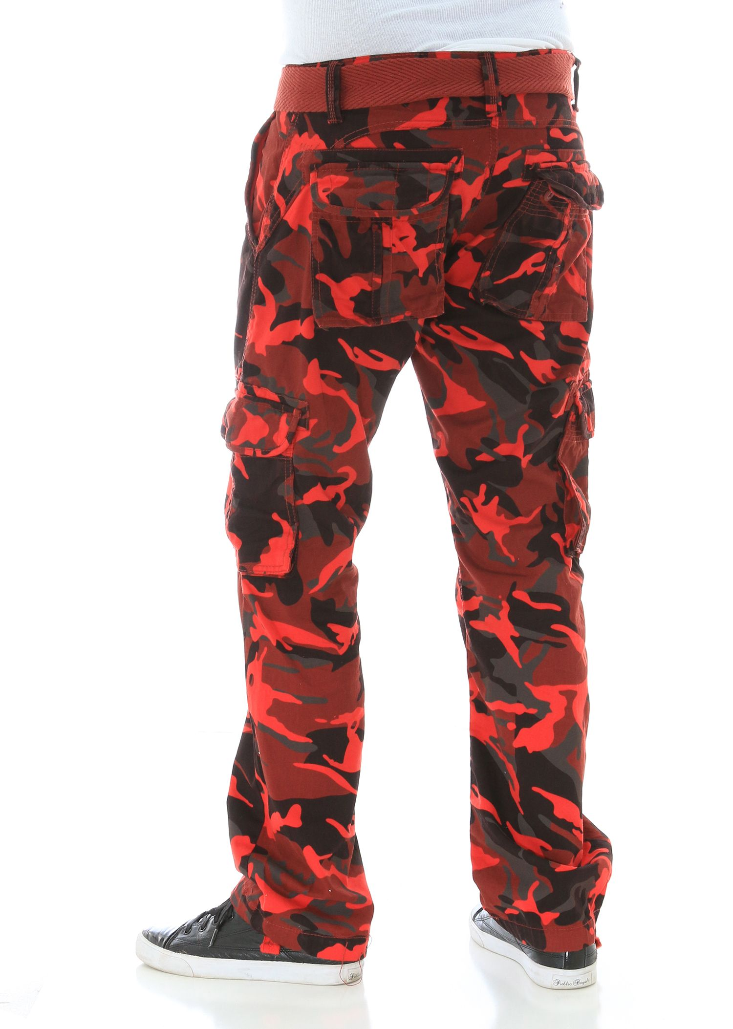 Fashion style Cargo camo pants with jordans photo for girls