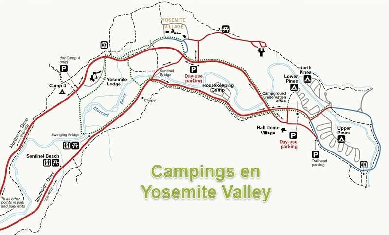 acampar en yosemite