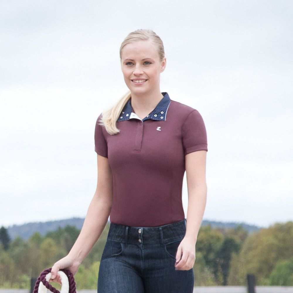 Horze-Blaire-Women-039-s-Short-Sleeve-Functional-Show-Shirt-with-UV-Protection thumbnail 22