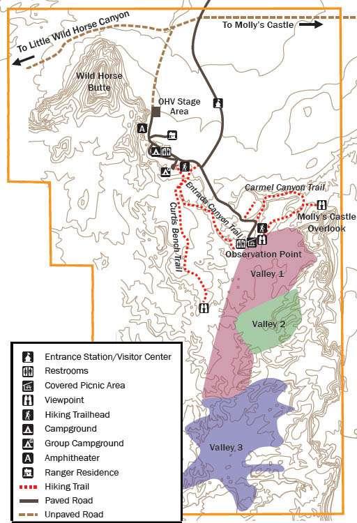 GOBLIN VALLEY MAPA